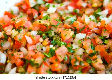 An image of fresh vibrant pico de gallo