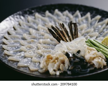 An Image of Fugu Sashimi