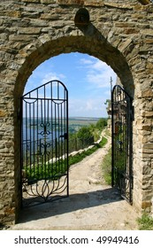 An image of gate of old fortress