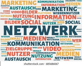 image with the german word NETWORK . series of images with german words associated with the topic SOCIAL MEDIA