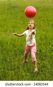 An image of girl with ball