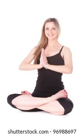 The image of girl engaging in yoga