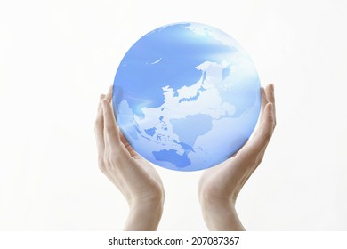An Image of Globe And Hand
