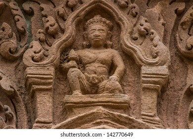 Image of god in ancient castle in northeast of thailand