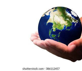 Image God created the world White background. The teachings of the Bible about God's creation. God created the first human couple named Adam and Eve. Elements of this image furnished by NASA