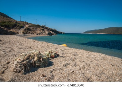 Image of Golden beach on Evbia island in Greece