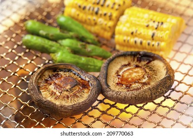 An Image of Grilled Shiitake Mushrooms
