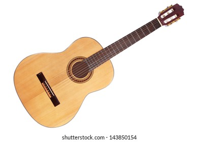 Acoustic Guitar On White Background Stock Photo Edit Now 49392856