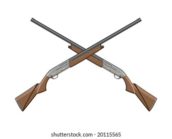 The image of the gun laying on a background, 3D rendering