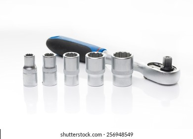 an image of hand tools isolated on white background