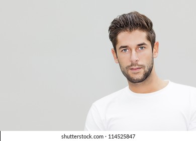 An image of a handsome young male portrait with space for your content