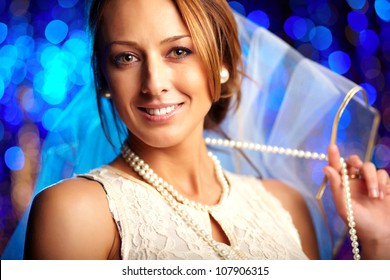 Image of a happy young woman getting married