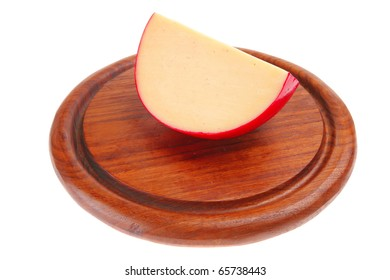 image of hard cheese piece on plate