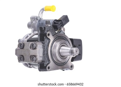 Image of High pressure diesel fuel pump isolated on white