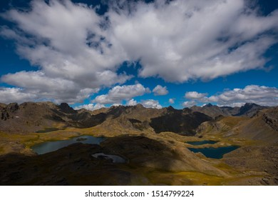 Image of hills, lake and clouds