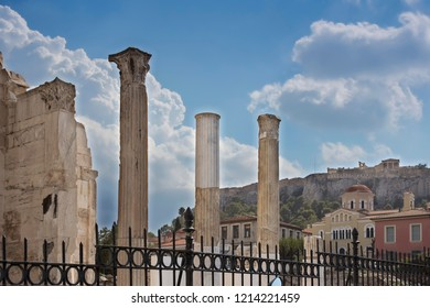 An Image of Historical Place in Athens, Greece - Shutterstock ID 1214221459