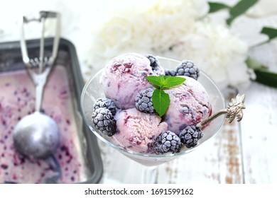 Image of Homemade Blackberry Ice cream