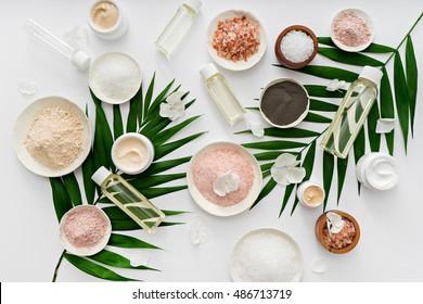 image of homemade cosmetics ingredients. aroma theme
