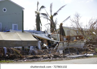Image of homes in the Florida Keys destroyed by Hurricane Irma 2017