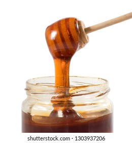 image of honey in a jar close up