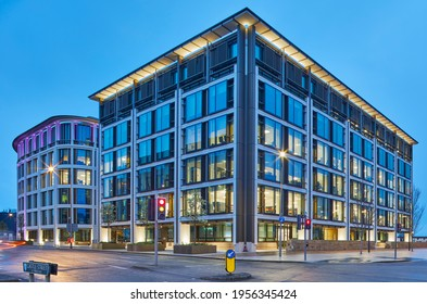 Image of IC1 and IFC5, International Finance Centre, St Helier, Jersey Channel Islands - Jersey is an off-shore finance centre providing financial services - 9 April 2021 - Editorial Only