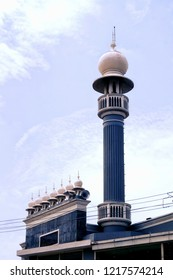Image of the iconic Thamapanoor Juma Masjid located in the heart of the Indian city of Trivandrum,Kerala
