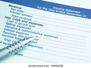 Image of Income Statement, interest, revenue