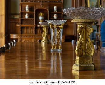 Image of the interior of the dining room. Vorontsov Palace. Crimea.