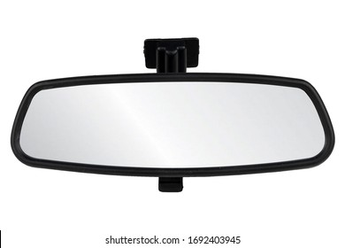 Image of interior rearview mirrors , car part isolated on white background