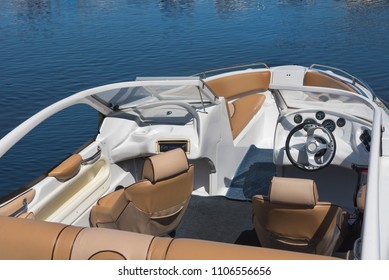 Image of the interior of a transport motorboat