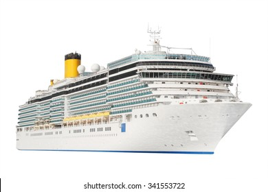 Das Bild eines isolierten Kreuzfahrtschiffes