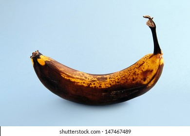 An image of an isolated rotten banana