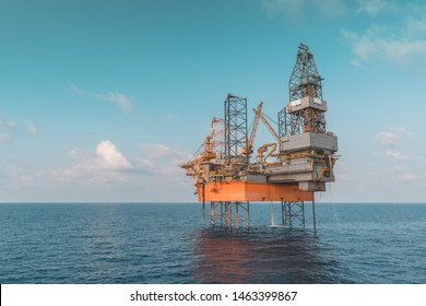 Image of Jack Up Drilling Rig doing exploration in field