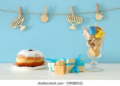 image of jewish holiday Hanukkah background.