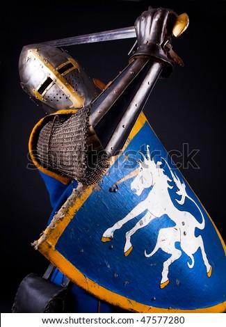Image of knight slashing