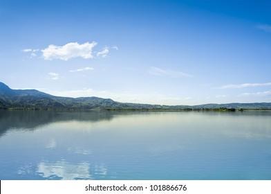 An image of the Kochel Lake in Bavaria Germany