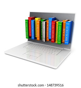 Image of laptop technology on a white background isolated