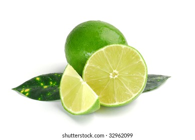 Image of a lime studio isolated on white background