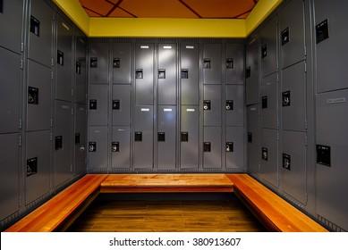 Image of locker room in school