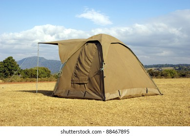 Image of a lonely tent in the wild