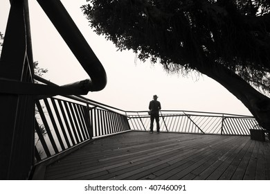 Image of a man standing alone