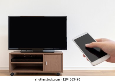 Image manipulating TV with smartphone