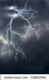 image manipulation of lightnings.