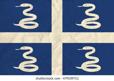 image of the Martinique  paper flag