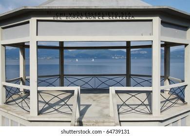 An image of Massaciuccoli lake in Torre del Lago, Tuscany Italy