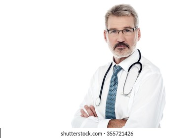 Image of a mature male physician with stethoscope