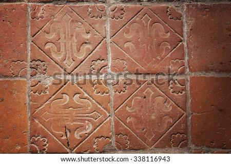 Image Medieval Handmade Terracotta Floor Tiles Stock Photo Edit Now