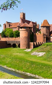 Image of medieval Malbork Castle in the Poland.