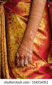 Image of the mehndi Indian wedding henna tatoo