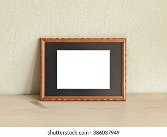 Image of a mockup scene with metal frame.